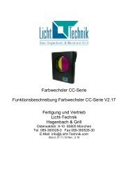 Farbwechsler CC-Serie - Licht-Technik Vertriebs GmbH