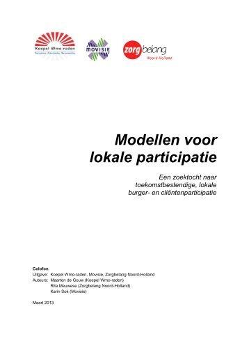 Modellen voor lokale participatie - Koepel Wmo-raden
