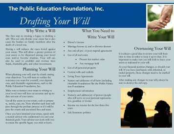 Drafting Your Will - The Public Education Foundation Inc.