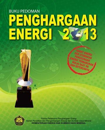 BUKU PEDOMAN - Penghargaan Energi 2013