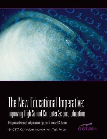 Improving High School Computer Science Education - CSTA - ACM