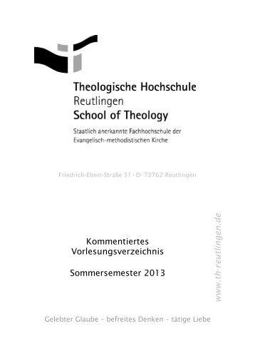 Vorlesungsverzeichnis herunterladen - Theologische Hochschule ...