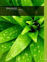 Environmental Certification - Tekform
