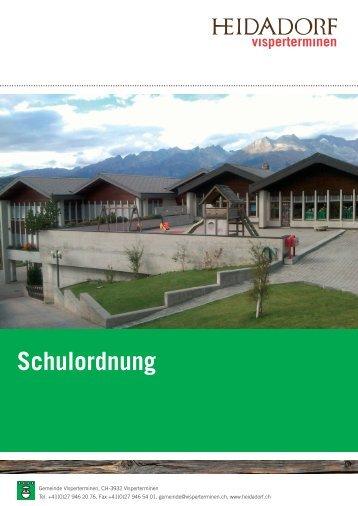 Schulordnung - Gemeinde Visperterminen