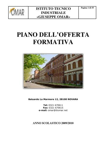Piano dell'Offerta Formativa - AS 2009-2010 - ITI Omar