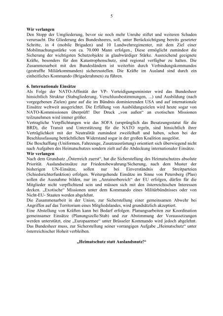 freiheitliche heerespolitik - Ring Freiheitlicher Jugend Salzburg