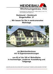 Dortmund – Hombruch Singerhoffstr. 37 ... Wir bauen für Sie in ...