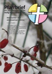 Weihnachten/Jahreswechsel 2011/12 - Katholische ...