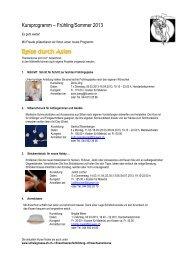 Kursprogramm 2012/13 Frühling/Sommer - Schule Gossau