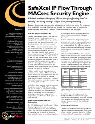 SafeXcel IP Flow Through MACsec Security Engine - SafeNet