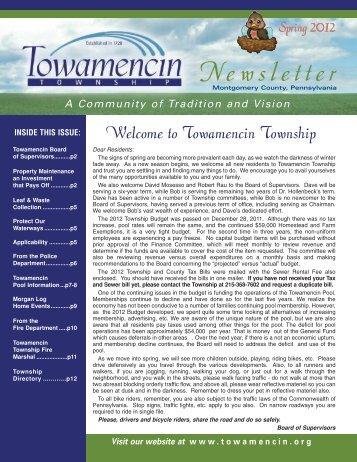 Spring 2012 - Towamencin Township