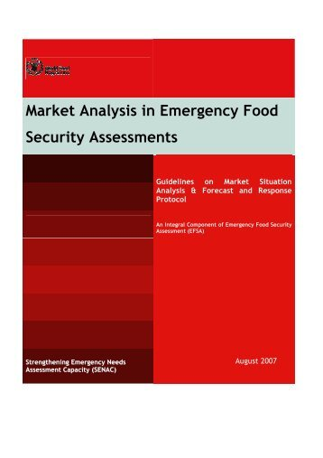 WFP: Market Analysis EFSA Protocol - Food Security Clusters