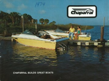 owner s operator s manual chaparral boats owners club rh yumpu com Used Chaparral Boats Chaparral H2O Boats