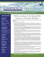 Spring 2013 - Towamencin Township