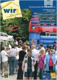 Ausgabe 2 / 2011 - Baugenossenschaft Hegau eG