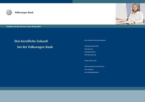Ihre berufliche Zukunft bei der Volkswagen Bank