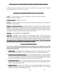 Residential Building Permit - Towamencin Township