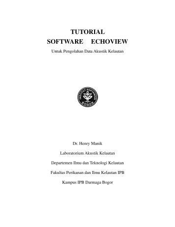 TUTORIAL SOFTWARE ECHOVIEW