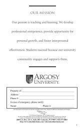 Student Handbook - Argosy University