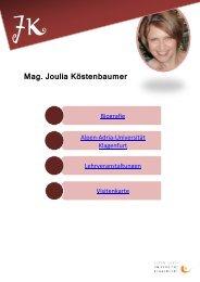 Mag. Joulia Köstenbaumer - Universität Klagenfurt