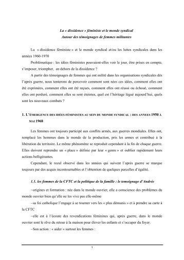 La Â« dissidence - Institut d'Histoire Sociale CGT
