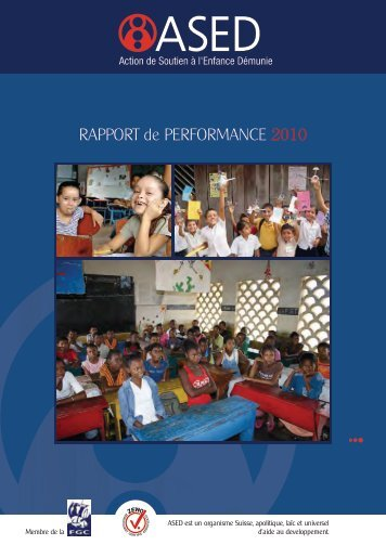 RAPPORT de PERFORMANCE 2010 - ASED