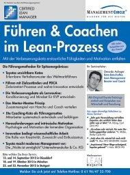 Führen und Coachen im Lean-Prozess - Management Circle AG