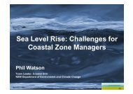 Sea Level Rise: Challenges for Coastal Zone Managers