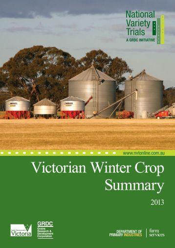 victorian winter crop summary 2013 - Grains Research ...