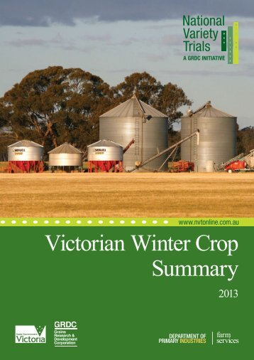 victorian winter crop summary 2013 - Grains Research ...