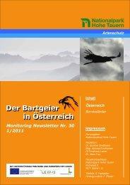 Bartgeier Newsletter Nr.30_Jänner 2011 - Vorarlberger Jägerschaft