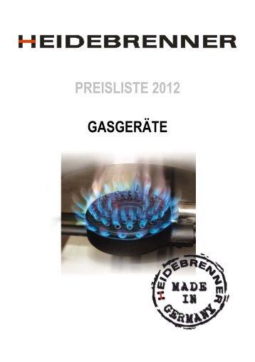 GASGERÄTE PREISLISTE 2012 - HEIDEBRENNER GmbH
