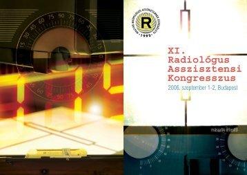 XI. Radiológus Asszisztensi Kongresszus XI. Radiológus ...
