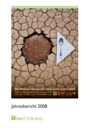 Jahresbericht 2008 - Brot für alle