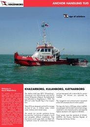 Shallow Draft Tug SDT KHAZARBORG - Wagenborg