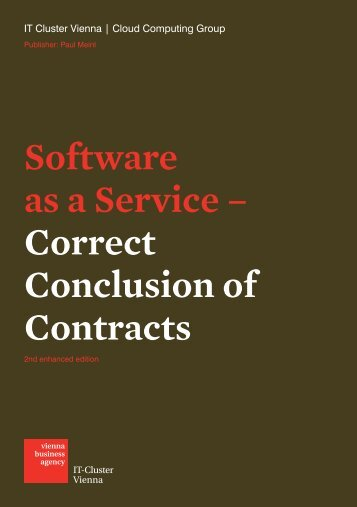 Software as a Service – Correct Conclusion of Contracts