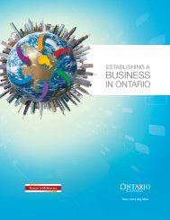 Establishing a Business in Ontario - SSE Central Publishing Site ...