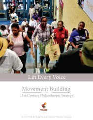 Movement Building as a 21st-Century Philanthropic Strategy