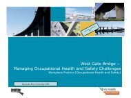 West Gate Bridge – Managing Occupational Health and Safety ...