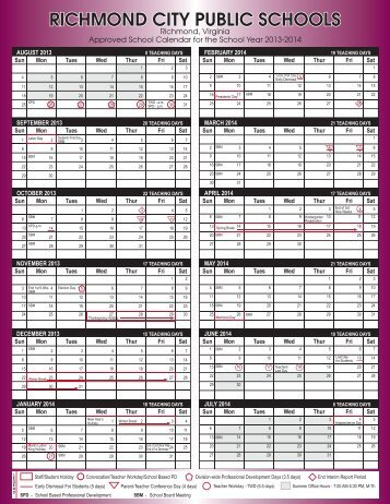 2013-2014 Calendar - Richmond Public Schools