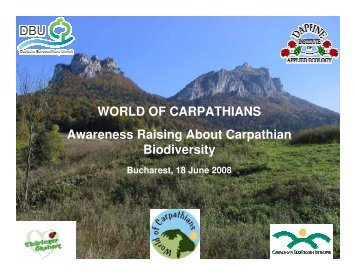 WORLD OF CARPATHIANS Awareness Raising About Carpathian ...