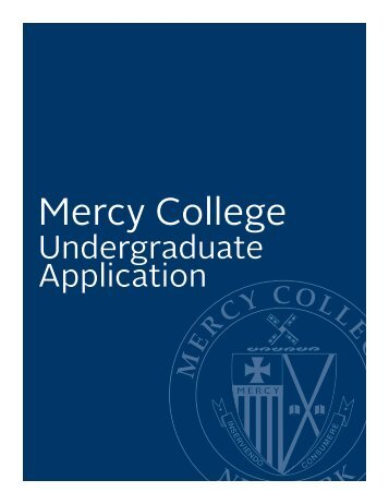 Undergraduate Application - Mercy College