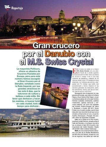 Gran crucero por el Danubio con el M.S. Swiss Crystal - TAT Revista