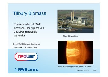 Tilbury Biomass - Essent
