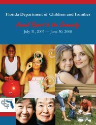 Annual Report to the Community - Florida Department of Children ...
