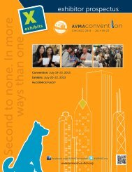 Exhibitor Prospectus - 2013 AVMA Annual Convention