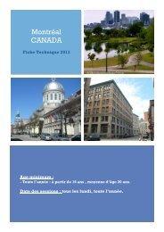 Téléchargez la fiche technique pour Montréal en cliquant ici - ISPA
