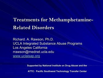 Treatments for Methamphetamine-Related Disorders - UCLA ...