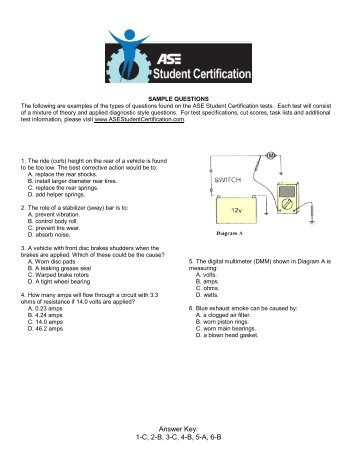 ASE STUDENT CERTIFICATION TEST SPECIFICATIONS AND ...