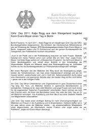 Pressemitteilung vom 14.4.11 zum Girls - Karin Evers-Meyer MdB
